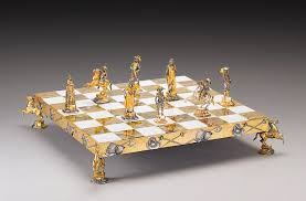 South Carolina travel chess set images Historical gold and silver chess sets by piero benzoni pursuitist png