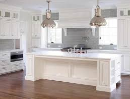 Gray Kitchen With White Cabinets Gray Kitchen Subway Tile Caruba Info