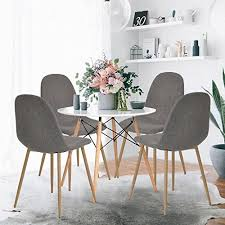 GreenForest Dining Side Chairs Eames Style Strong Metal Legs - Strong dining room chairs