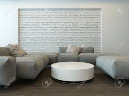 Living Room With Grey Corner Sofa Tranquil Modern Grey Living Room Interior With Comfortable Corner