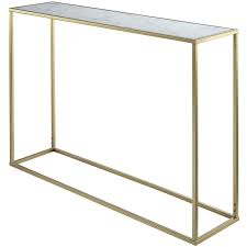 coast to coast console table convenience concepts gold coast faux marble top console table in