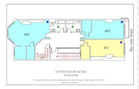 fire escape floor plan 117 bay state road housing boston university