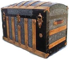 beautiful travel trunks antique stagecoach jenny lind wood trunk with metal rivets and