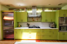 Green Kitchen Designs Lime Green Kitchen Design With Big Stove Home Improvement And