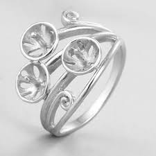 ring mountings 925 sterling silver ring mountings renfook findings