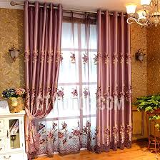embroidery faux silk decorative luxury curtains and window treatments