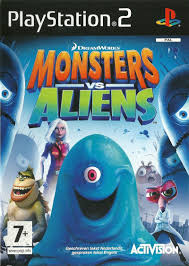 monsters aliens 2009 playstation 2 box cover art mobygames