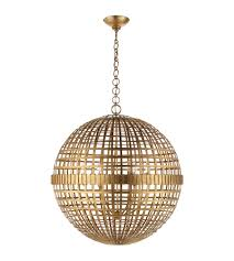 Modern Sphere Chandelier Visual Comfort Arn 5002g Aerin Modern Mill Large Globe Lantern In