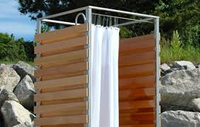 Outdoor Shower Curtains 3rings Plover Shower By Oborain