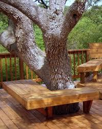 seating around tree landscaping around deck pinterest