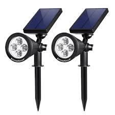 Solar Spot Lights Outdoor Innogear Upgraded Solar Spot Lights White Light 2 In 1