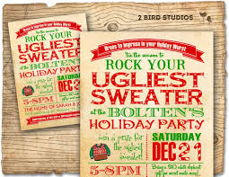 holiday party invitation ugly sweater christmas party