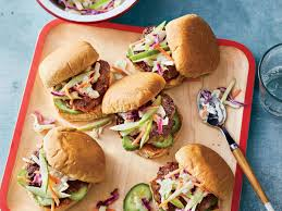 turkey sliders with crunchy green apple slaw recipe cooking light