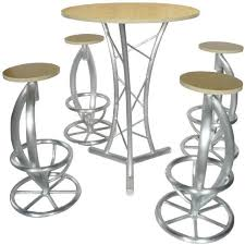 Aluminium Bar Table Aluminium Exhibition Display Bar Stool China Mainland Furniture