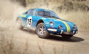 renault alpine a110 rally dirt rally on consoles brings seven new cars full gravel pikes