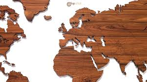 Wooden World Map Wall Art by Diy Wooden World Map Art Throughout Roundtripticket Me