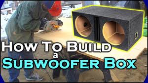 how to build a subwoofer box beginner car audio tutorial dual