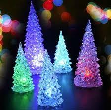 2017 christmas tree led lights xmas decoration acrylic crystal
