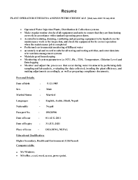 Sample Resume For Heavy Equipment Operator by Power Plant Operator Resume Sample Brazil Disconnects Nuclear