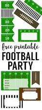 free printable football decorations football party paper trail