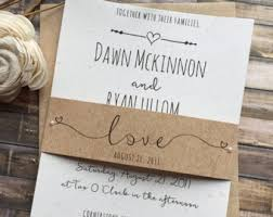 rustic chic wedding invitations rustic wedding invitation etsy