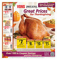 pavilions vons weekly sales ad 11 16 11 22 socal coupon gal