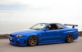 nissan blue car nissan skyline nissan skyline gt r r34 gt r jdm japan