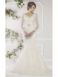 wedding dress with sleeves ellis bridals 11412a fish lace wedding dress with sleeves ivory
