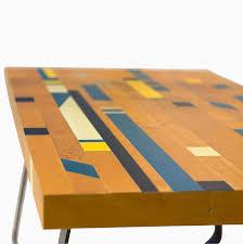 custom made reclaimed gym floor coffee table recycle repurpose
