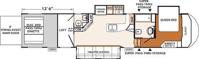 xlr thunderbolt amp fifth wheels floorplans by forest river rv