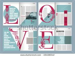 layout template en français modern magazine layout template de word stock vector 494186542