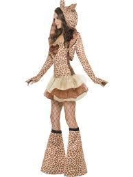 giraffe zoo animal fancy dress ladies fever tutu costume