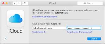 set up icloud account on pc how to change an apple id u0026 icloud account in mac os x