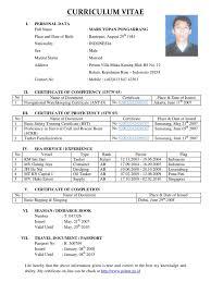 Std Resume Format Deck Cadet Resume Format Resume Format
