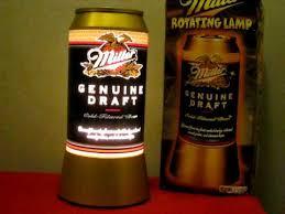 miller genuine draft light vintage mgd miller genuine draft beer can rotating motion light up