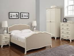 simple traditional white bedroom furniture with unique bedside