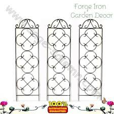 factory supply decorative powder coated metal garden trellis
