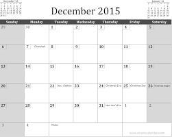 free december 2015 calendar template with holidays