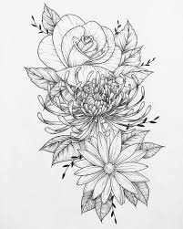 tattoo flower drawings 22 best flower tattoo pages images on pinterest drawing flowers