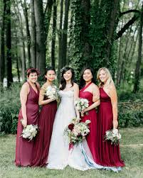 wedding bridesmaid dresses burgundy bridesmaid dresses martha stewart weddings