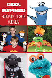 geek inspired sock puppet crafts for kids that geekish family