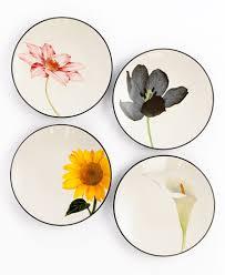 noritake dinnerware set of 4 colorwave floral appetizer plates