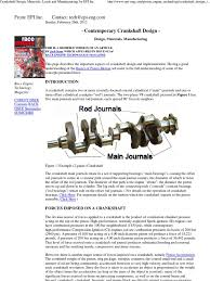 crankshaft design materials loads and manufacturing by epi inc