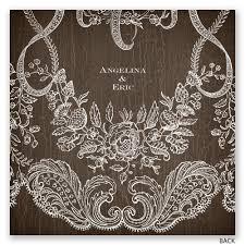 lace invitations rustic lace invitation invitations by