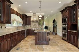 Dark Mahogany Kitchen Cabinets by Granite Countertops Chicago Factory Plaza