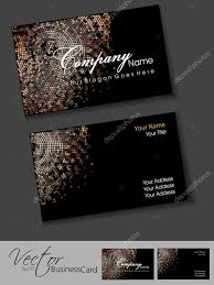 Business Card Eps Template Awesome Mosaic Editable Vector Business Card Template Eps 10 Des