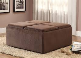 brown upholstered ottoman coffee table square u2014 house plan and
