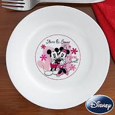 personalized ceramic plate personalized mickey mouse minnie mouse plates you re sweet