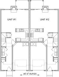 duplex house plans townhouse plans mirror image house d 458