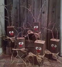 Outdoor Wooden Reindeer Christmas Decorations by Wood Block Reindeer By Reecreationshomedeco On Etsy Christmas